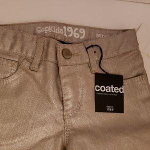 Gap silver mettalic skinny NWT 8 pants girls